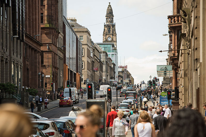 Buchanan Street – Glasgow is home to the UK's best shopping outside of London