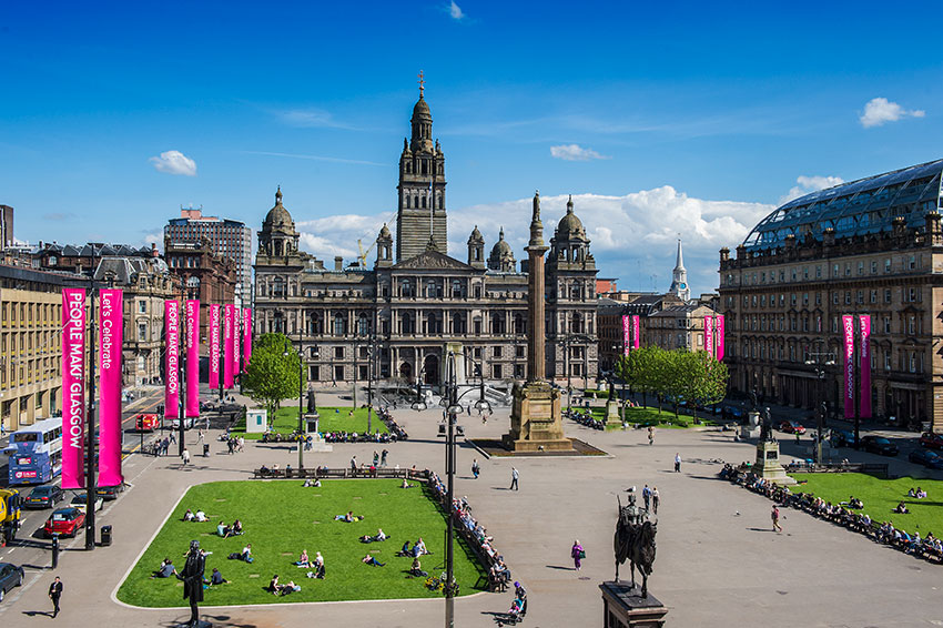 George Square – the municipal heart of Glasgow